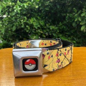 Yellow Pikachu Adjustable Buckle-Belt